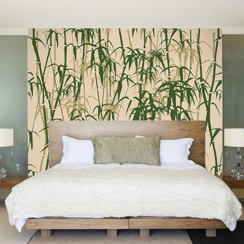 Bamboo Wall Mural- Office Fabric Wallpaper prt0098 - PopDecors,, PopDecors, PopDecors