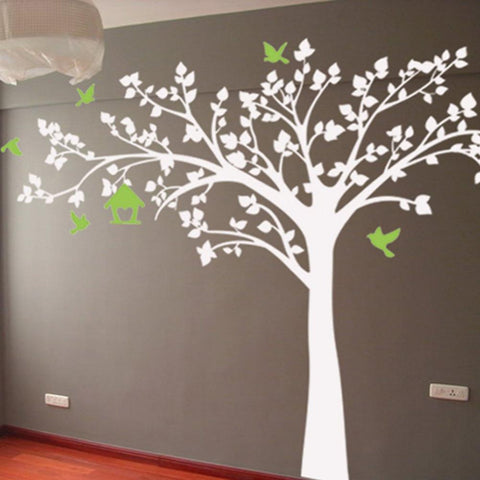 Big Tree With Love Birds Wall Decals