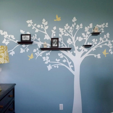 Big tree with love birds-Wall Decals
