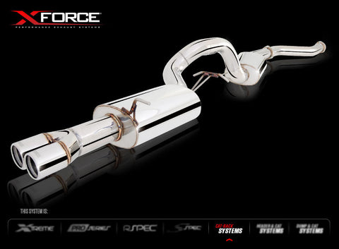 X FORCE SPORTS EXHAUST TO SUIT FG XR6 FALCON SEDAN TURBO 2008+ - Exhaust Systems Direct