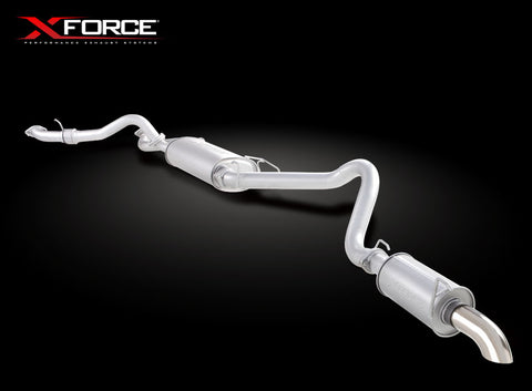 X Force Toyota Landcruiser 100 Series V8 Wagon 1998-2009 Cat Back Sports Exhaust