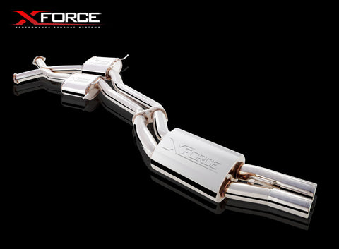 "X Force Sports Exhaust to suit WH-WK-WL V8 Statesman Twin 2.5"" Cat Back in stainless steel"