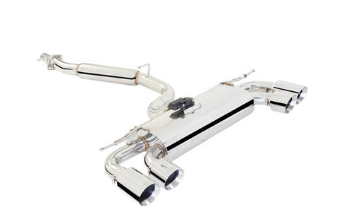 X Force Stainless Steel Cat Back Sports Exhaust to Suit VOLKSWAGEN GOLF R MK7 2013- with Varex Rear Muffler