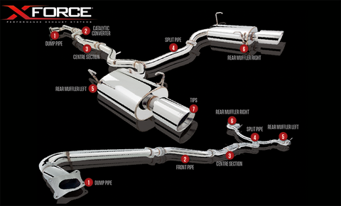 XFORCE Subaru Liberty GT 2010- Cat Back Stainless Steel Sports Exhaust with Varex Optional