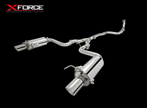 XFORCE Ford Aus Mustang 2.3ltr Ecoboost 2015- Cat Back Stainless Sports Exhaust with Optional Varex