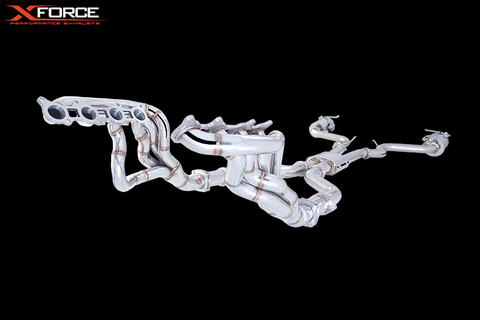 XFORCE Ford Mustang 5.0ltr 2015- Headers and Cats Kit in Stainless Steel
