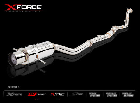 XFORCE Subaru Forester XT 2003-2008 Turbo Back Sports Exhaust with Oval Rear (Varex Optional)
