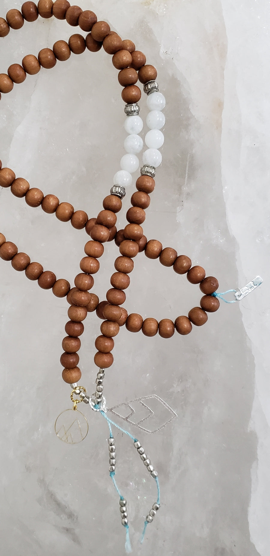 Tranquility Mala with Silver Accents