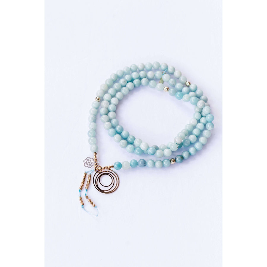 Connection Mala - Mala & Me- Gemstones with beautiful geometric pendents inspired by nature- Jewlery used for meditation, setting intentions and enhancing your yoga practice. Each gemstone holds unique healing properties