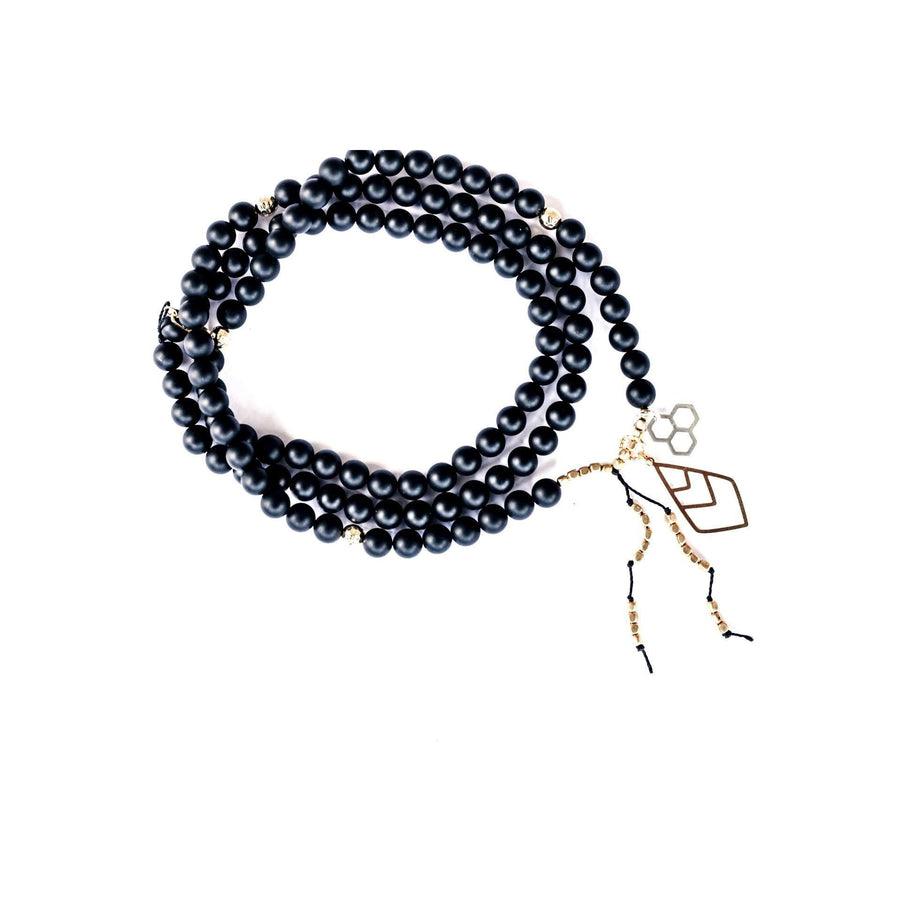 Yin Yang Mala - Mala & Me- Gemstones with beautiful geometric pendents inspired by nature- Jewlery used for meditation, setting intentions and enhancing your yoga practice. Each gemstone holds unique healing properties