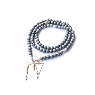Reflection Mala - Mala & Me- Gemstones with beautiful geometric pendents inspired by nature- Jewlery used for meditation, setting intentions and enhancing your yoga practice. Each gemstone holds unique healing properties