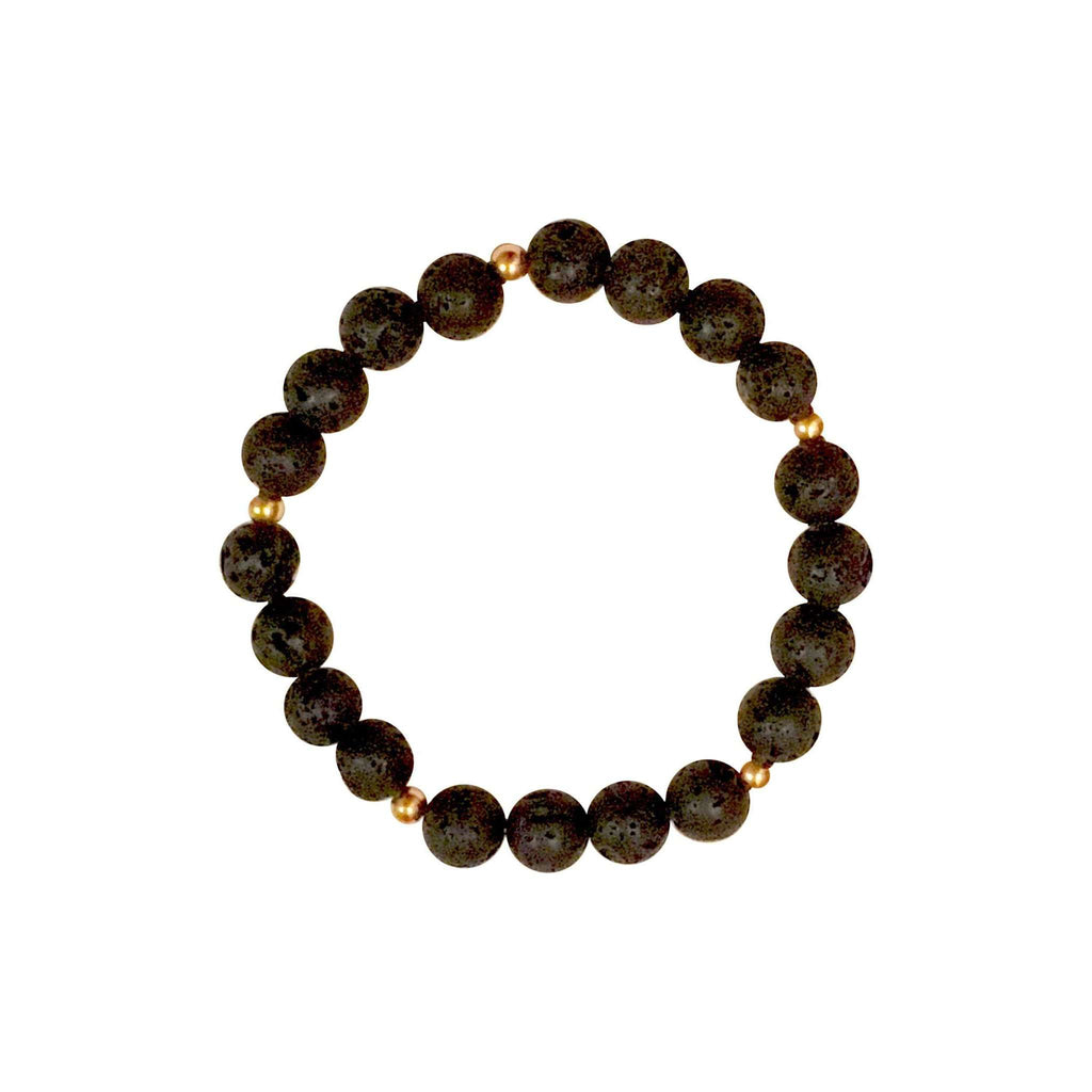 Lava Bracelet - Mala & Me- Gemstones with beautiful geometric pendents inspired by nature- Jewlery used for meditation, setting intentions and enhancing your yoga practice. Each gemstone holds unique healing properties