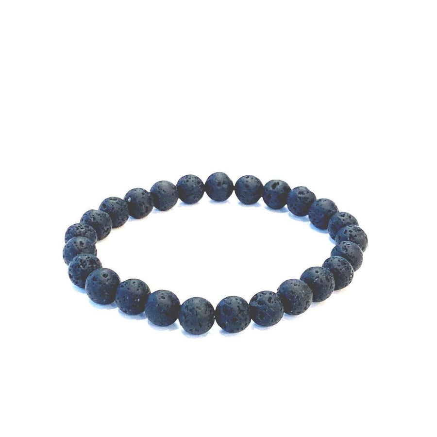 Men's Lava Bracelet - Mala & Me- Gemstones with beautiful geometric pendents inspired by nature- Jewlery used for meditation, setting intentions and enhancing your yoga practice. Each gemstone holds unique healing properties