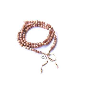 Free Spirit Mala - Mala & Me- Gemstones with beautiful geometric pendents inspired by nature- Jewlery used for meditation, setting intentions and enhancing your yoga practice. Each gemstone holds unique healing properties