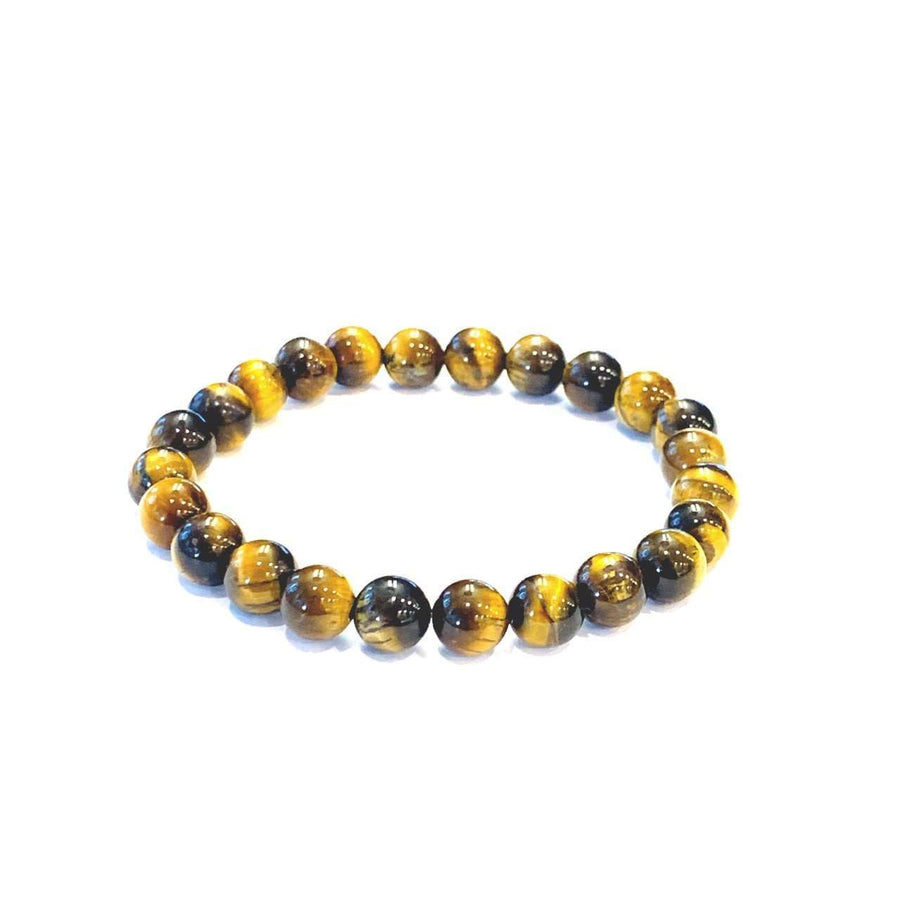 Men's Tigers Eye Bracelet - Mala & Me- Gemstones with beautiful geometric pendents inspired by nature- Jewlery used for meditation, setting intentions and enhancing your yoga practice. Each gemstone holds unique healing properties
