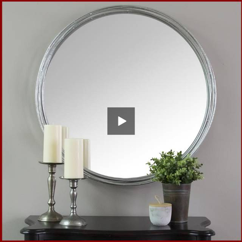 Image of Silver Jocelyn Statement Wall Mirror - Hen & Tilly