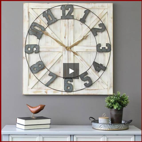 Image of Barn Wood Farmhouse Wall Clock - Hen & Tilly