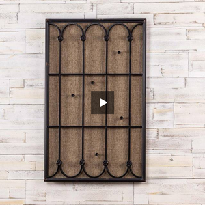 Black Window Frame Cork Display Board - Hen & Tilly Farmhouse Sinks