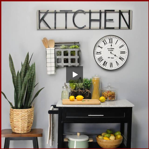 "Classic ""Old Town"" White Wall Clock - Hen & Tilly Farmhouse Sinks"