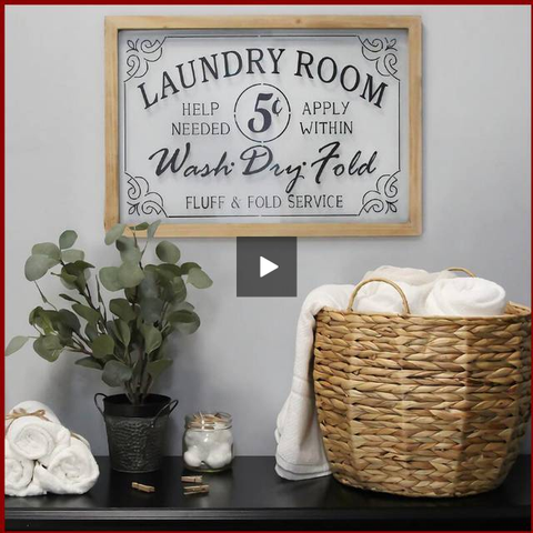 "Image of Glass Vintage ""Laundry Room"" Sign - Hen & Tilly Farmhouse Sinks"