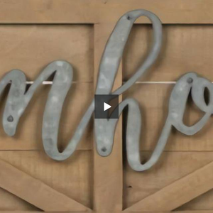 "Oversized ""Farmhouse"" Barn Door Sign - Hen & Tilly Farmhouse Sinks"