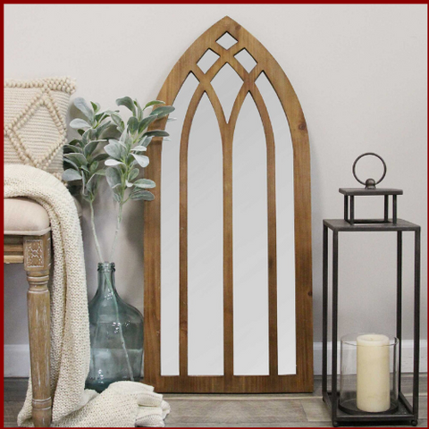 Francis Cathedral Arch Farmhouse Mirror - Hen & Tilly