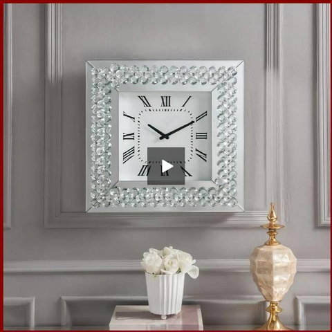 Crystal Roman Numeral Wall Clock - Hen & Tilly Farmhouse Sinks