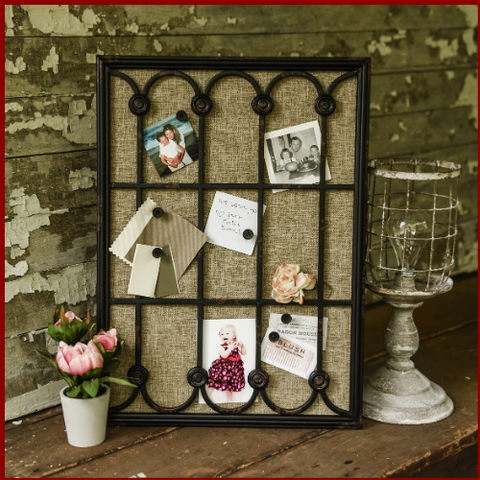 Image of Black Window Frame Cork Display Board - Hen & Tilly Farmhouse Sinks