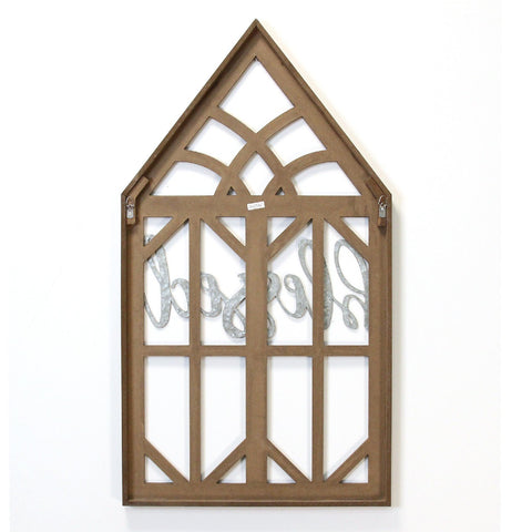 "Image of ""Blessed"" Farmhouse Wooden Window Frame - Hen & Tilly"