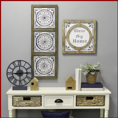 "Image of ""Bless this Home"" Rustic Wall Art - Hen & Tilly Farmhouse Sinks"