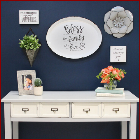 "Image of ""Bless The Family"" Wall Decor - Hen & Tilly Farmhouse Sinks"