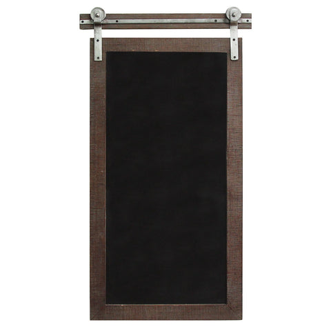 Image of Dark Natural Wood Farmhouse Chalkboard - Hen & Tilly Farmhouse Sinks