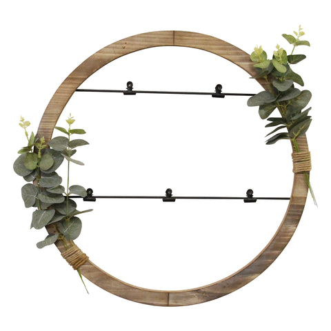 Image of Rustic Eucalyptus Photo Holder Wall Decor - Hen & Tilly