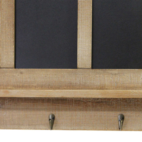 Image of Five Chalkboard Organizer with Metal Hooks - Hen & Tilly