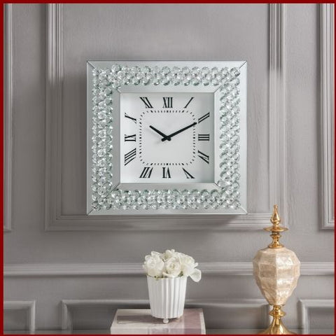 Image of Crystal Roman Numeral Wall Clock - Hen & Tilly Farmhouse Sinks