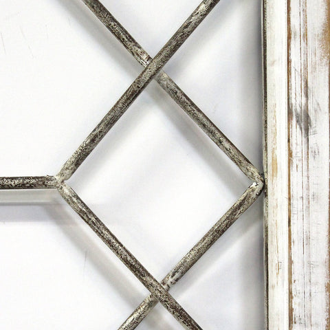 Distressed White Window Wall Decor - Hen & Tilly