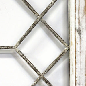 Distressed White Window Wall Decor - Hen & Tilly Farmhouse Sinks