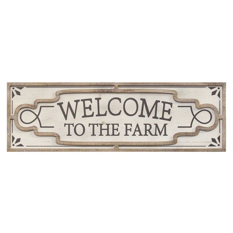 "Image of ""Welcome To The Farm"" Distressed Sign - Hen & Tilly Farmhouse Sinks"