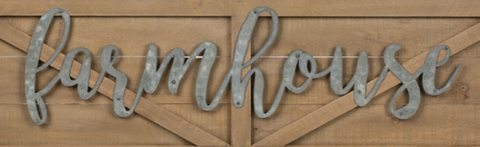 "Image of Oversized ""Farmhouse"" Barn Door Sign - Hen & Tilly Farmhouse Sinks"