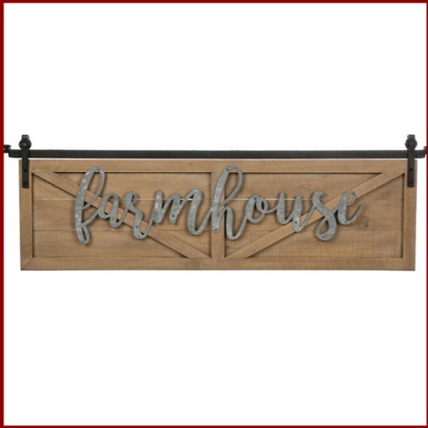 "Image of Oversized ""Farmhouse"" Barn Door Sign - Hen & Tilly"