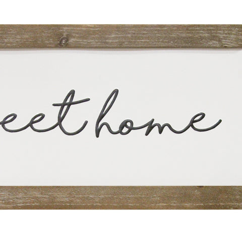 "Image of ""Home Sweet Home"" Wooden Frame Wall Art - Hen & Tilly Farmhouse Sinks"