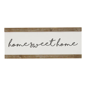 """Home Sweet Home"" Wooden Frame Wall Art - Hen & Tilly Farmhouse Sinks"