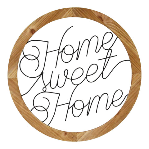 "Image of ""Home Sweet Home"" Script Farmhouse Wall Art - Hen & Tilly Farmhouse Sinks"
