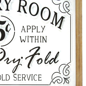 "Glass Vintage ""Laundry Room"" Sign - Hen & Tilly Farmhouse Sinks"