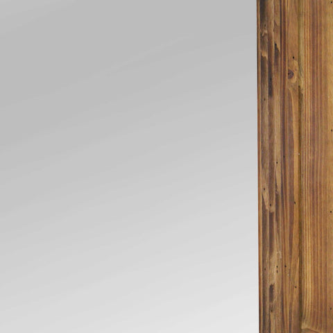 Image of Cherry Wood Layered Wall Mirror - Hen & Tilly Farmhouse Sinks