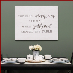 """Best Memories"" Family Wall Art - Hen & Tilly Farmhouse Sinks"