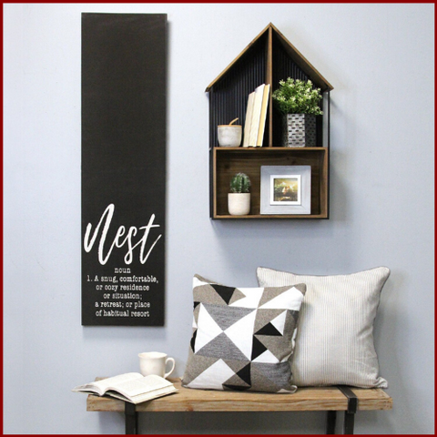 "Image of ""Nest"" Black Wall Art Decor - Hen & Tilly Farmhouse Sinks"