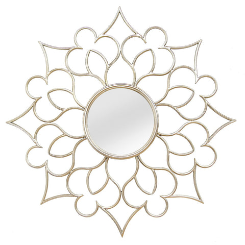 Image of Alexandra Flower Farmhouse Wall Mirror - Hen & Tilly Farmhouse Sinks