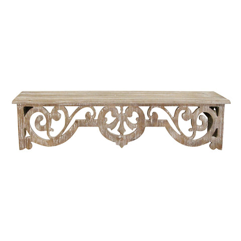 Image of Vintage Wood Scroll Wall Shelf - Hen & Tilly Farmhouse Sinks