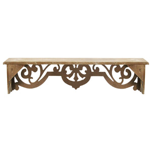 Vintage Wood Scroll Wall Shelf - Hen & Tilly Farmhouse Sinks